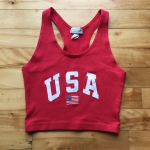 Vintage USA Crop Top